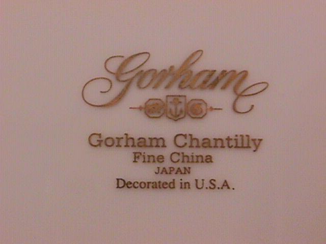 Gorham Fine China (Gorham Chantilly) Cup & Saucer