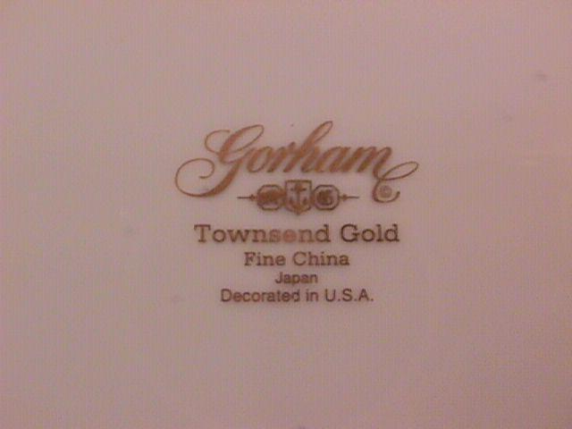 Gorham Fine China (Townsend Gold) Salad Plate