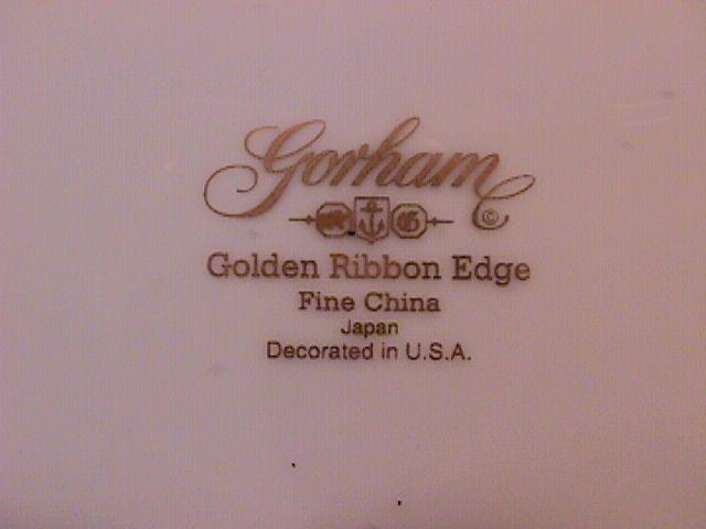 Gorham Fine China (Golden Ribbon Edge) Salad Plate