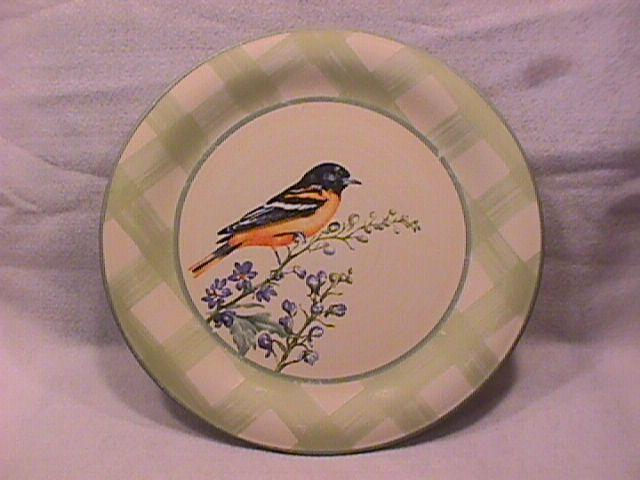 Lenox China (Summer Greetings) Dinner Plate=Baltimore Oriole
