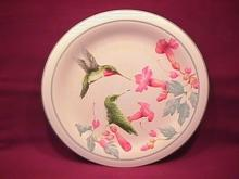 Lenox China (Summer Greetings) Salad Plate=Ruby Throated Hummingbird