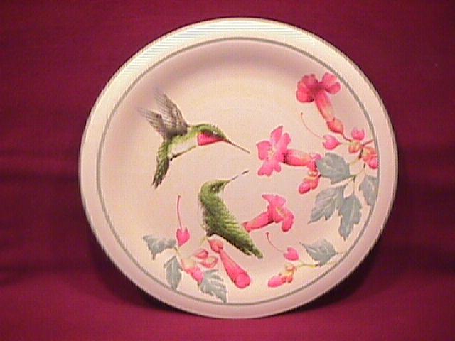 Lenox China (Summer Greetings) Salad Plate=Ruby Throated Hummingbird