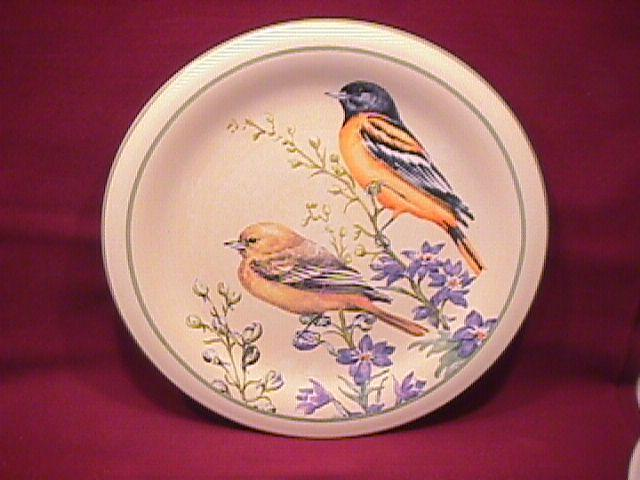 Lenox China (Summer Greetings) Salad Plate=Baltimore Oriole