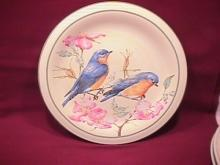 Lenox China (Summer Greetings) Salad Plate=Eastern Bluebird