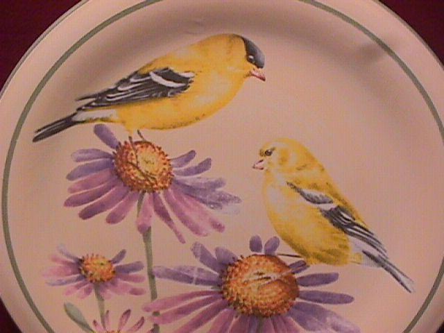 Lenox China (Summer Greetings) Salad Plate=Goldfinch