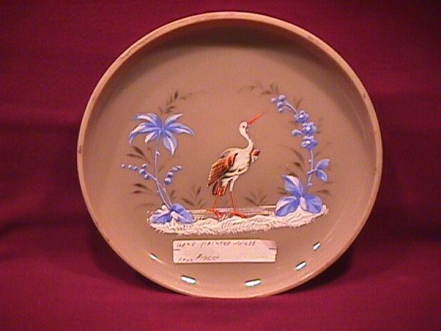 Caramel Glass-Enameled (Stork & Palm Trees) Bon Bon