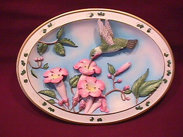 Bradford Exchange (Ruby Throated Hummingbird) Plate