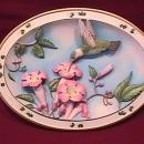 Bradford Exchange (Ruby Throated Hummingbird) Plate