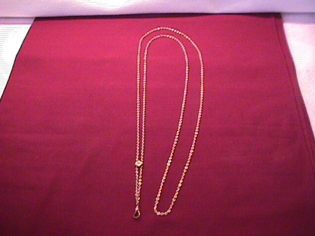 Antique Ladies Gold Filled Slide Chain 50