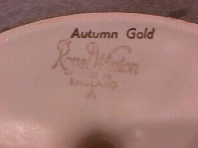 Royal Winton (Golden Age AKA Autumn Gold) Candlestick