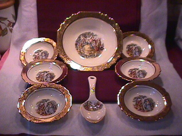 W. S. George/Dorlexa China Complete Berry Set with Spoon