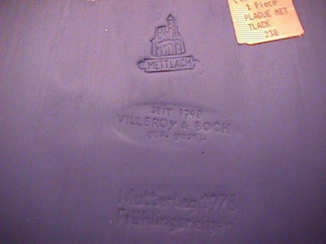 Mettlach/Villeroy & Boch Jasperware (Three Graces) Wall Plaque