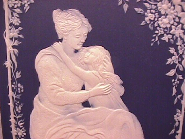 Mettlach/Villeroy & Boch Jasperware Wall Plaque (Liebe, Mother & Child)