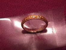 10k Gold Baby Christening Ring