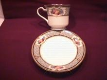Noritake Bone China (Royal Emblem) #4587 Cup & Saucer