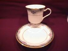Noritake Bone China (Mi Amor) #4717 Cup & Saucer