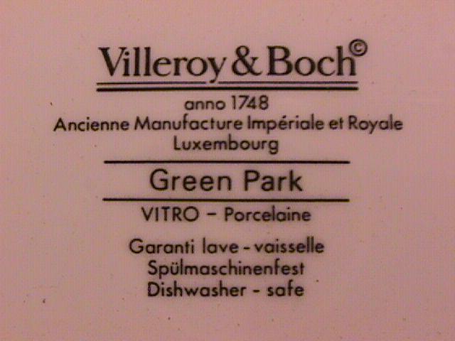 Villeroy & Boch Fine Porcelaine (Green Park) Dinner Plate
