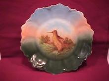 Hand Painted (Woodcock) Display Plate