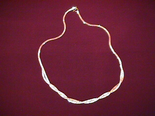 Sterling Italian Woven Diamond-Cut Necklace