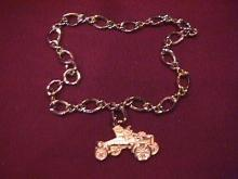 Sterling=Triple A's, 1904 Ford Charm Bracelet