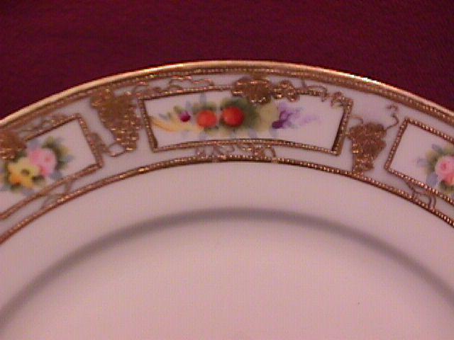 Nippon Hand-Painted RC (Wildflowers) Display Plate