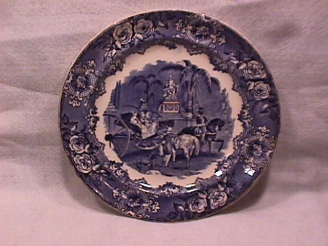 Flow Blue (Spanish Festivities) Dinner Plate