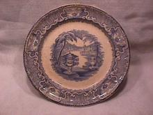 Flow Blue (Washington Vase) Dinner Plate
