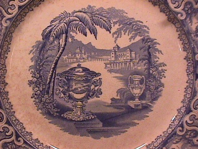 Flow Blue (Washington Vase) Dinner Plate