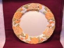 Metlox Poppytrail (Sculptured Zinnia) Dinner Plate