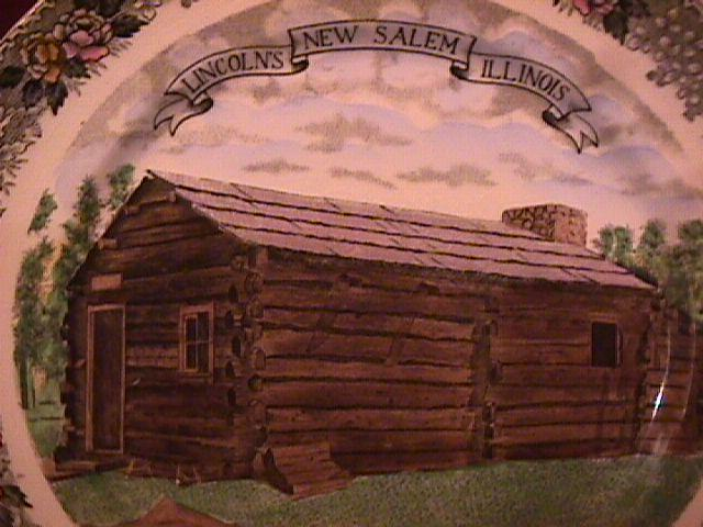 Adams (Lincoln New Salem Commemorative) Plate