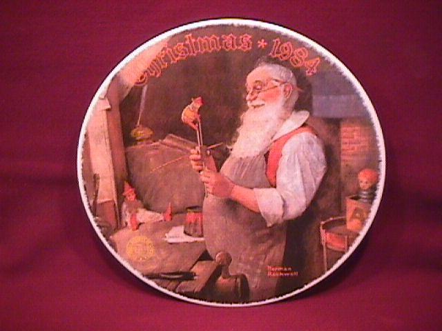 Knowles (Santa in His Workshop) Limited Edition Rockwell Plate