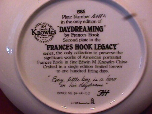 Knowles (Day Dreaming) Limited Edition Plate
