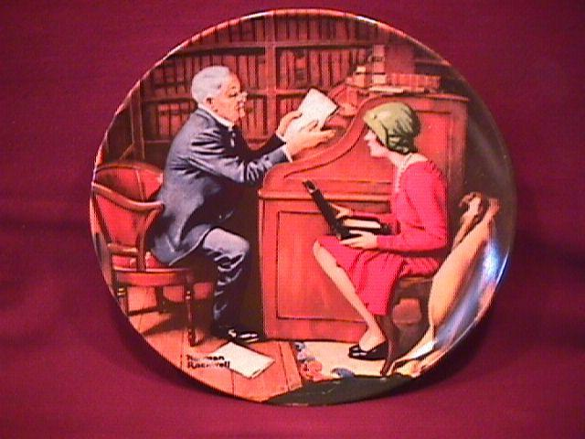 Knowles (The Professor) Limited Edition Rockwell Plate