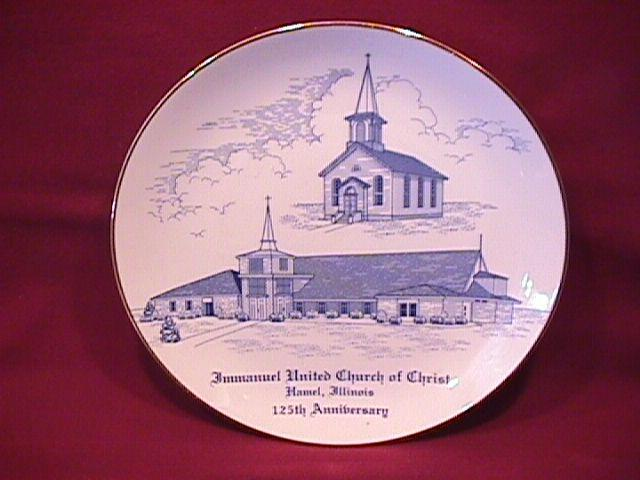Hamel, Illinois (Immanual Church of Christ Anniversary) Display Plate