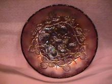 Millersburg Carnival Glass (Blackberry Wreath) Bowl=Amethyst