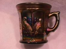 Northwoods Carnival Glass (Singing Birds) Mug-Amethyst