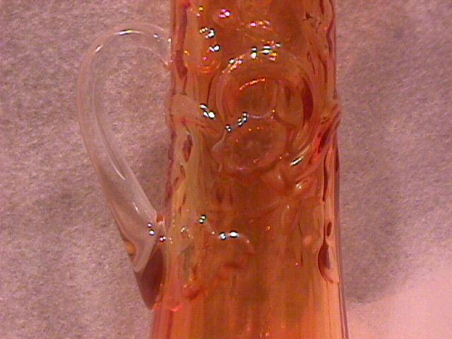 Carnival Glass=New Philadelphia Ohio=1986 Souvenire Pitcher-Marigold