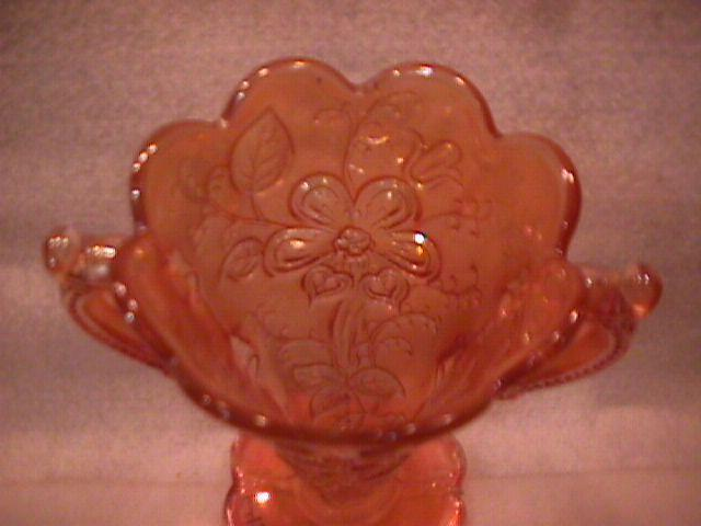 Dugan/Diamond Carnival Glass (Mary Ann) Vase-Marigold