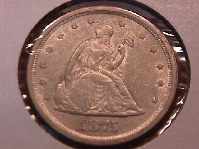 Liberty Seated Silver Twenty Cent Piece 1876-S MS-60