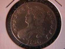 Capped Bust, Lettered Edge Silver half Dollar  1826