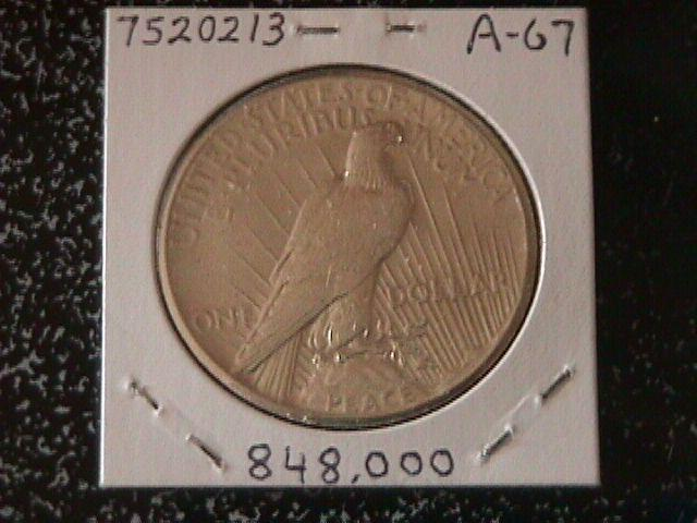 Peace Type Silver Dollar 1927 MS-64