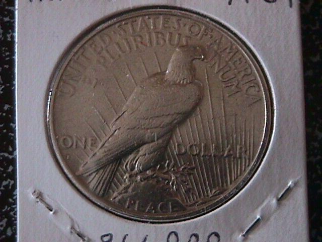 Peace Type Silver Dollar 1927-S MS #-63 Condition