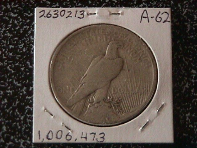 Peace Type Silver Dollar 1921 VG Condition