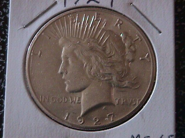Peace Type Silver Dollar 1927 MS # 65