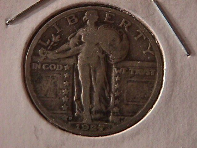 Standing Liberty Silver Quarter 1927-D   Very Fine