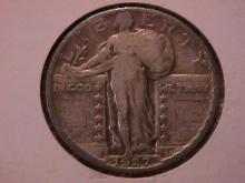 Standing Liberty Silver Quarter 1927-S  Very Fine Condition