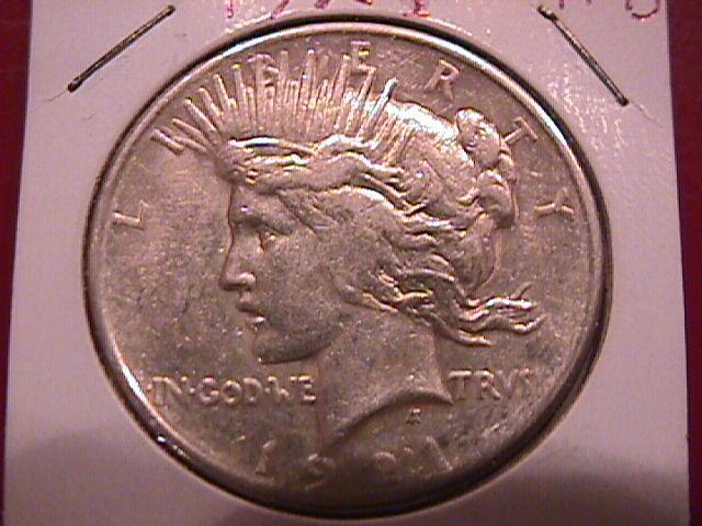 Peace Type Silver Dollar 1921  Almost Uncirculated Condition