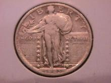 Standing Liberty Silver Quarter 1923  Extremely Fine Condition