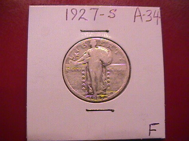 Standing Liberty Silver Quarter 1927-S  Fine Plus Condition                  Condition