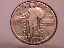 Standing Liberty Silver Quarter 1926-D Very Fine Condition